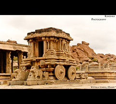 Vittala Temple, Hampi (Kanishka **) Tags: trip india building history fun shoot tour s canvas historical hampi southindia samrat lanscapes kanishka oldfort krishnadevaraya vittaltemple kanishkasamrat canon550d vittla hampiold indinahostorical killaooty