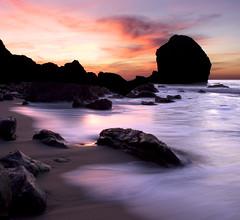 Nature Mimicking Nature (JmsnSvg) Tags: ocean sanfrancisco california longexposure pink sunset sea orange beach beautiful composite landscape rocks pacificocean landsend shore