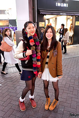 Center Street Style (tokyofashion) Tags: winter girls japan scarf japanese tokyo boots shibuya jacket braids blazer 2012 centerstreet streetstyle centergai streetsnap ingni