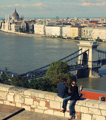 Tell Her Everythings Gonna Be Fine (ionut iordache) Tags: bridge panorama clouds canon buildings river couple hungary budapest canonef2470mmf28lusm danube orszghz magyarorszg szchenyilnchd szchenyichainbridge hungarianparliamentbuilding canoneos50d canon50d mygearandme mygearandmepremium mygearandmebronze mygearandmesilver mygearandmegold mygearandmeplatinum mygearandmediamond