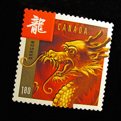 Commemorative Stamp-----Dragon (njchow82) Tags: macro artwork colorful dragon stamp oriental postage canadapost macrolicious chineselunarnewyear beautifulexpression almostanything commemorativestamp beautyunnoticed nancychow canonpowershotsx30is