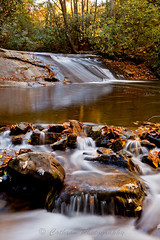 Wildcat Creek Water Slide (John Cothron) Tags: longexposure autumn usa lake reflection fall nature water leaves rock forest 35mm canon georgia landscape morninglight waterfall outdoor reservoir environment swirl protected clarkesville lakeburton rabuncounty chattahoocheeoconeenationalforest johncothron 5dmkii wildcatcreekroad cothronphotography wildcatwaterslide