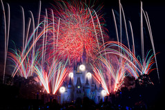 Back on flickr (explored) (Adam Hansen) Tags: fireworks disney wishes wdw waltdisneyworld magickingdom disneyfireworks cinderellacastle