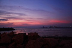 Fort Kochin sunset (rosiemrogers) Tags: pink light sunset red sea sky india colour beach silhouette yellow night canon landscape evening dusk goa kerala fortkochin