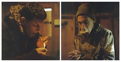 Lenny & Pesci (Kyle Beiermeister) Tags: portrait kyle diptych smoke smoking hasselblad f28 80mm 500cm beiermeister