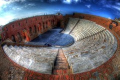 ancient roman odeon /    (dtsortanidis) Tags: festival architecture stairs canon ancient theater roman mark fisheye greece international ii 5d 1001nights hdr odeon dimitris reconstructed patras dimitrios flickrduel   flickraward   mygearandme mygearandmepremium mygearandmebronze 815mm  tsortanidis