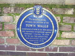 Photo of Town Walls blue plaque