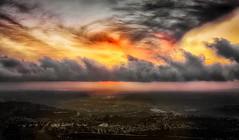 Cowle Mountain Sunset Pano (Doug Knisely) Tags: sunset sky panorama mist clouds haze nikon dusk pano valley brilliant 70200vr d700 cowlemountain