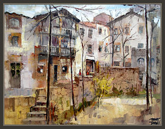 SANT JULI DE VILATORTA-OSONA-PAISAJES-CASAS-CUADROS-PINTURA-ERNEST DESCALS (Ernest Descals) Tags: barcelona houses urban espaa paisajes naturaleza tree art nature water forest painting landscape spain ancient agua arboles village arte pueblo paintings paisaje catalonia antiguas painter urbano catalunya fonts casas fuentes painters pueblos pintor catalua pintura pintores cuadros pinturas osona catalans pobles paisajismo catalanes pintors paisajistas ernestdescals setfonts santjulidevilatorta