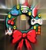 Happy Winter-een-mas! (lynn.gardner) Tags: wreath geekery pixelated wintereenmas