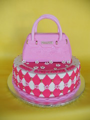 Birkin Bag Birthday Cake (CakesUniqueByAmy.com) Tags: birthday pink cake bag purse birkin