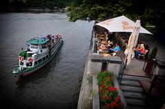 Praha -A riverside cafe- (Yohsuke_NIKON_Japan) Tags: nikon czech sigma praha cz vignette 10mm d300s