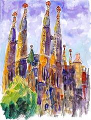 Sagrada Famlia (Arturo Espinosa) Tags: art familia watercolor sagrada