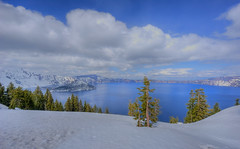 Crater Lake (Daniel J. Mueller) Tags: park trees usa water oregon national craterlake hdr craterlakenationalpark 7xp d3s mygearandme mygearandmepremium mygearandmebronze mygearandmesilver mygearandmegold