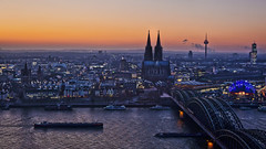 Cologne 02 - Blue Hour (L I C H T B I L D E R) Tags: winter germany evening cathedral dom cologne kln nrw bluehour 1001nights klnerdom colognecathedral spiritofphotography mygearandme ringexcellence