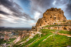 Uchisar, Cappadocia (Nejdet Duzen) Tags: trip travel nature turkey view trkiye hdr cappadocia manzara uchisar turkei seyahat doa uchisarcastle uhisarkalesi mygearandme