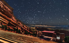 red rocks at night (kell.a.logan) Tags: music art nature ecology rock nikon scenery colorado rocks amphitheatre performingarts denver boulders co land redrocks environment environmentalism hdr highdynamicrange rockandroll shiprock ecosystem performingart denvercounty d80 fdrtools 13000000 gardenofangels creationrock burnhamhoyt stagerockandroll 13004000 13004001 gardenoftitans