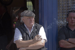 Smoke signals (Frank Fullard) Tags: street door ireland portrait horse irish bar pub candid cork fair cap shade shelter smoker fullard cahirmee buttevant frankfullard
