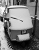 Ape (Claudia Celli Simi) Tags: bw italy snow gelo italia bn neve ape inverno bianco freddo viterbo lazio piaggio ghiaccio febbraio febbraio2012