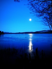 Loch of the Lowes.(Once in a Blue Moon) (eric robb niven) Tags: ice canon scotland frozen loch dunkeld lowes g12