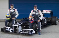 Pastor Maldonado y Bruno Senna con el nuevo Williams FW34 (Meridiano, el diario deportivo de Venezuela) Tags: williams lotus f1 mclaren esp redbull jerezdelafrontera