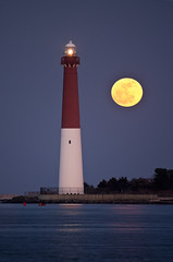 Barnegat Lighthouse at full moon (Explored Feb 7th 2012) (erhewitt50) Tags: lighthouse nj fullmoon barnegatlighthouse