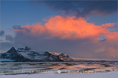 Sunrise at the south coast of Iceland at Vatnajokull N.P (~ Floydian ~) Tags: park winter cloud snow ice nature clouds sunrise canon landscape landscapes iceland warm europe colours view national viewpoint vatnajokull icelandic floydian leefilters canoneos1dsmarkiii henkmeijer vatnajökullnationalpark