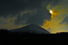 Sun Peaking in The Beacons Wales - nikon d5100 (KirbyMD) Tags: pictures sky sun snow mountains wales landscape photography nikon flickr foto shine framed brecon beacons picure flickraward d5100 blinkagain nikond5100