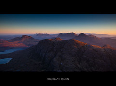 Highland Dawn (Boyd Hunt) Tags: sky mountains sunrise landscape dawn scotland highlands view loch sutherland stacpollaidh suilven assynt
