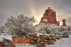The Advance of Light (James Neeley) Tags: winter sunrise landscape utah arches archesnationalpark hdr 5xp jamesneeley flickr24