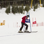 A volunteer working hard during the Friday GS Race at the 2012 Teck K2 Provincials                        PHOTO CREDIT: Keven Dubinsky