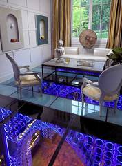 Modern House Design With Slight Arabic Touches (Nadyana Magazine) Tags: arches livingroom textures glassfloor crazyideas
