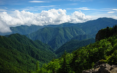 山梨県 | Yamanashi Prefecture (deletio) Tags: sky mountains green japan forest landscape day cloudy yamanashi 2013 yamanashiprefecture d700 afsnikkor2470mmf28ged