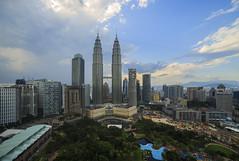 An Evening in Kuala Lumpur (Mohamad Zaidi Photography) Tags: nature landscape bluesky nopeople malaysia kualalumpur touristspot familyactivity canon6d samyang14mm mohamadzaidiphotography visitmalaysia2014 wideenough