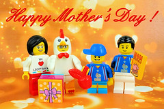 Happy Mother's Day! From us to you, Mom! (Lesgo LEGO Foto!) Tags: family cute guy chicken love animal children fun toy toys day child lego mother mothers suit minifig collectible minifigs omg celebrate mothersday collectable minifigure chickenguy motherday minifigures legophotography legography chickensuitguy collectibleminifigures collectableminifigure coolminifig