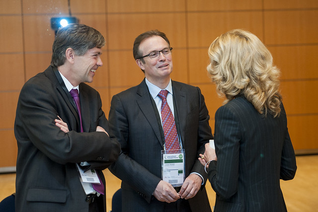 Libor Lochman, Laurent Troger and Melinda Crane in discussion