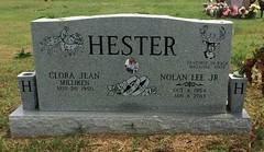 Hester Headstone (eloisedv) Tags: oklahoma cemetery headstone gravemarker cartercounty lonegrove