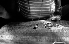In the pub (AndreArma) Tags: leica blackandwhite film beer monochrome hp5 ilford m6