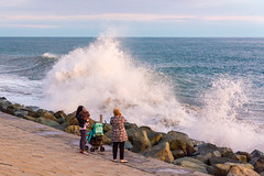 DSC_0217 (sergeysemendyaev) Tags: sunset sea storm beach spring warm waves russia dusk adler atthebeach seashore blacksea seacoast bigwaves sochi  2016                 duringf1 1 duringformulaone