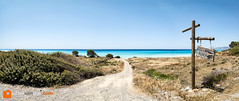 Kouloura beach (Victor van Dijk (Thanks for 3.8M views!)) Tags: blue sea panorama favorite beach water sign strand landscape pano azure fave greece fav rodos rhodes rhodos faved griekenland kouloura