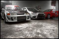 Family Meeting (zeroimage) Tags: hp 10 5 7 evolution bumper rs 800 mitsubishi jun hks motul stroker gsr damd