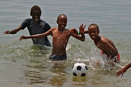 John, Patrick and Innocent, Lake Kivu