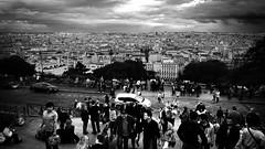 Paris from Sacre Coeur in Paris, France18/9 2011 (photoola) Tags: street blackandwhite bw paris france monochrome frankreich montmartre sacrecoeur francia sv  frankrike svartvitt francja ranska  photoola