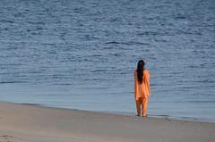 Gaze (Mariasme) Tags: orange woman beach water sand longhair botanybay gaze salwarkameez gamewinner thechallengefactory pregamewinner