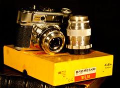 DSC02287 (Evansshoots) Tags: camera vintage 50mm kodak rangefinder 28 135 braun 56 135mm schneider kreuznach xenar paxette bromesko