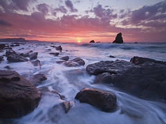 Mupe Sunrise (antonyspencer) Tags: uk winter seascape sunrise landscape bay rocks dorset jurassic lulworth mupe jurassiccoast