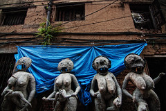 Its a land of Monsters (Sukanta Maikap Photography) Tags: india streetphotography diwali kolkata calcutta westbengal kalipuja dipabali kumartuli tokina1116f28 goddesskaliidols clayidolshalffinishedidols unfinishedkaliidols canon450dtokinaatxprosd1116mmf28ifdx