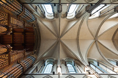 Organ & Vaulting (Richard Reader (luciferscage)) Tags: roof church architecture kent october cathedral religion rochester altar organ nave christianity pillars crypt medway sanctuary transcept vaulting 2011 rochestercathedral quire roofboss 1410 nikond700 richardreader 1635mmf4gvred