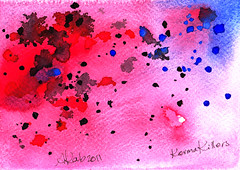 Karma Killers (Wasfi Akab) Tags: street pink blue original light shadow red sky italy cloud white abstract black color art water beautiful beauty modern clouds watercolor painting paper geotagged florence europe paint strada kill artist italia purple artistic drawing iraq violet east killer tuscany soul painter firenze karma draw exile middle toscana universe iraqi artista tuscan informal middleast akab informalism wasfi
