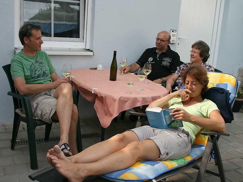 Ferienwohnungen Miehling - Den Abend ausklingen lassen